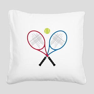 Tennis Rackets Square Canvas Pillow