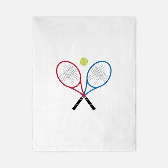 Tennis Rackets Twin Duvet