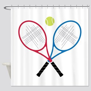 Tennis Rackets Shower Curtain