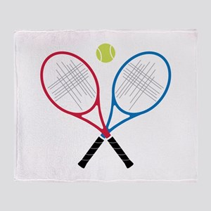 Tennis Rackets Throw Blanket