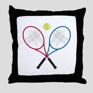 Tennis Rackets Throw Pillow