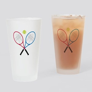 Tennis Rackets Drinking Glass