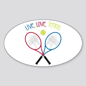 Live, Love, Tennis Sticker