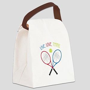Live, Love, Tennis Canvas Lunch Bag