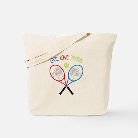 Live, Love, Tennis Tote Bag