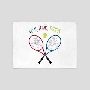 Live, Love, Tennis 5'x7'Area Rug