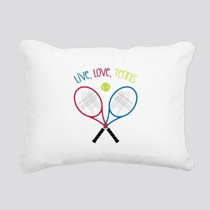 Live, Love, Tennis Rectangular Canvas Pillow