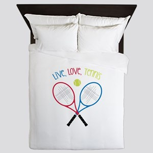 Live, Love, Tennis Queen Duvet