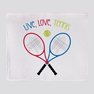Live, Love, Tennis Throw Blanket
