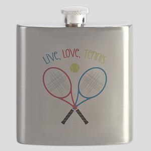Live, Love, Tennis Flask