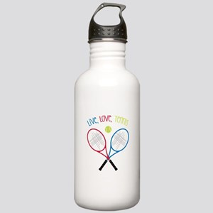 Live, Love, Tennis Water Bottle