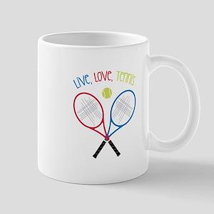 Live, Love, Tennis Mugs