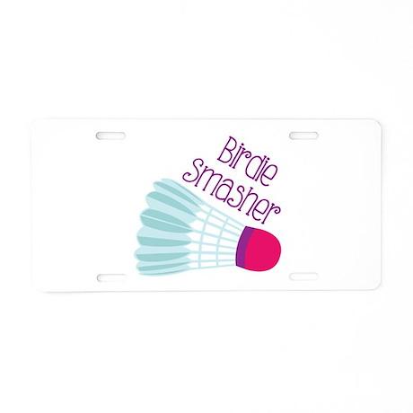 Birdie Smasher Aluminum License Plate