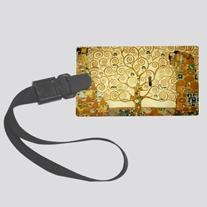 Gustav Klimt Tree Of Life Large Luggage Tag