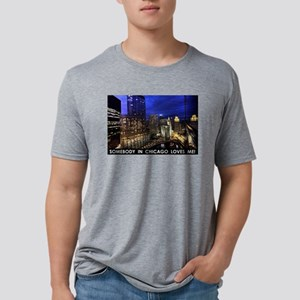 Someone in Chicago Loves Me Mens Tri-blend T-Shirt
