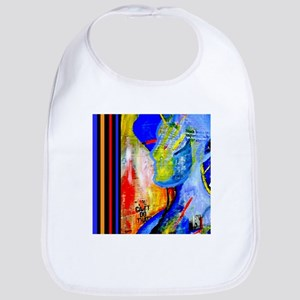 Cool Colorful Contemporary Art Bib
