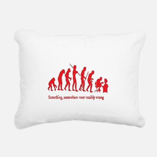 Caveman Rectangular Canvas Pillow