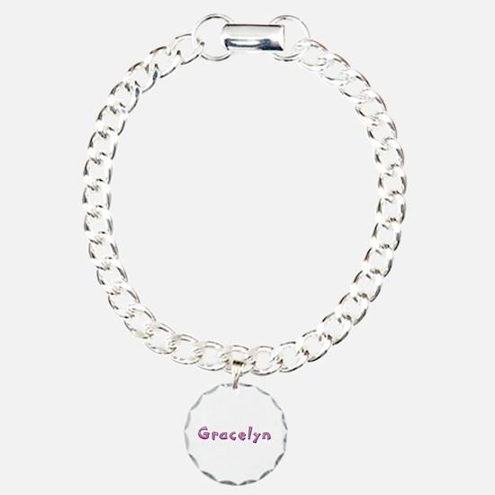 Gracelyn Pink Giraffe Bracelet