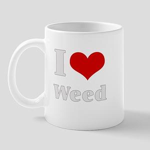 i love heart weed Mug