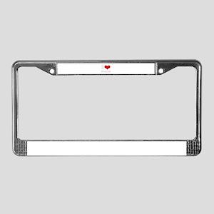 i love (heart) stocks License Plate Frame