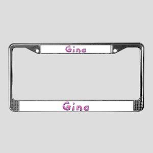 Gina Pink Giraffe License Plate Frame