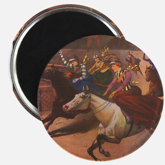 Racing Sidesaddle Ladies Magnet