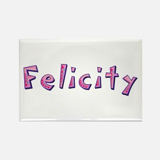 Felicity Pink Giraffe Rectangle Magnet