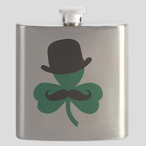 Stache Derby Clover Flask