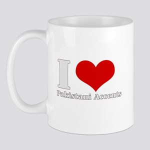 i love heart pakistani accent Mug