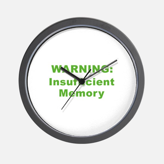 Insufficient Memory At This Time Wall Clock
