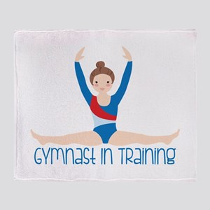 Gymnastics Training Throw Blanket
