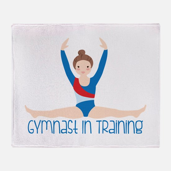 Gymnastics Training Throw Blanket