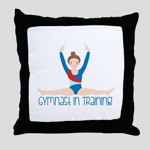 Gymnastics Training Throw Pillow