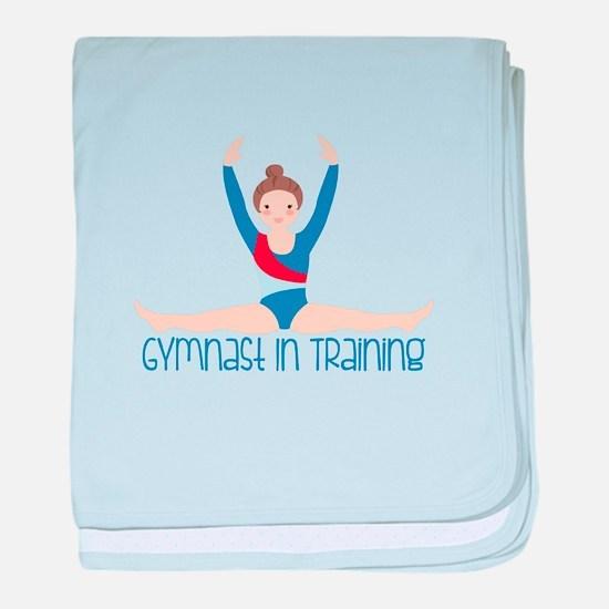 Gymnastics Training baby blanket