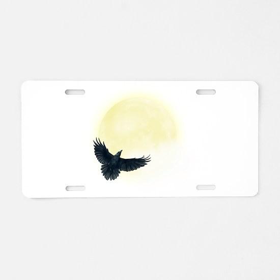 Raven Moon Aluminum License Plate