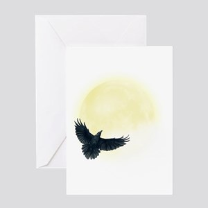 Raven Moon Greeting Cards