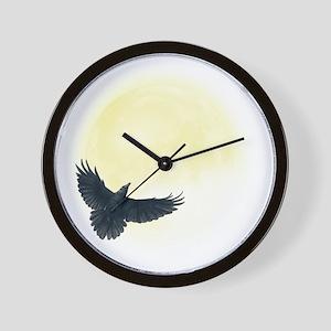 Raven Moon Wall Clock