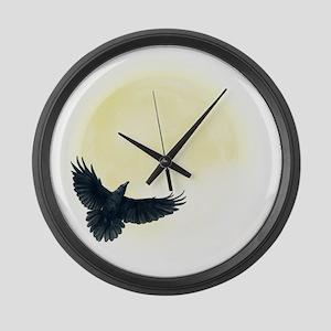 Raven Moon Large Wall Clock