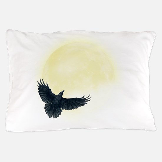 Raven Moon Pillow Case