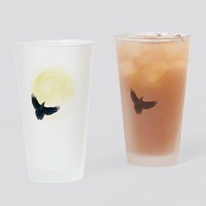 Raven Moon Drinking Glass