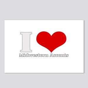 i love heart midwestern accen Postcards (Package o