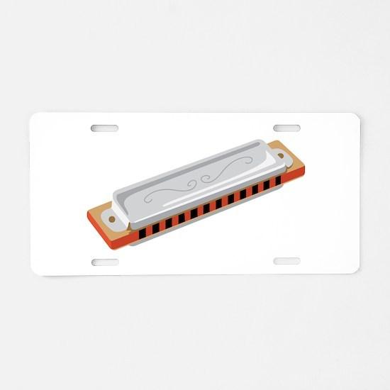 Harmonica Musical Instrument Aluminum License Plat