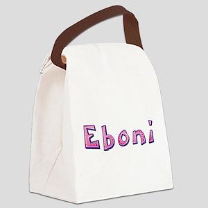 Eboni Pink Giraffe Canvas Lunch Bag