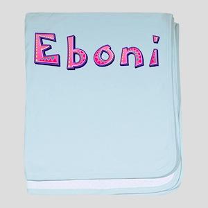 Eboni Pink Giraffe baby blanket
