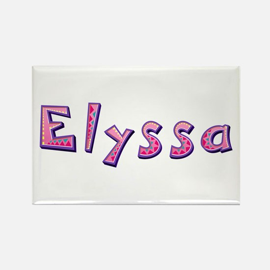 Elyssa Pink Giraffe Rectangle Magnet