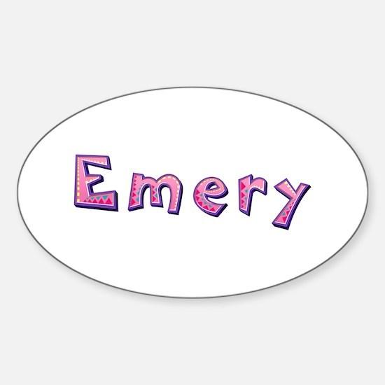 Emery Pink Giraffe Oval Decal