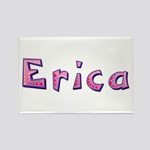 Erica Pink Giraffe Rectangle Magnet