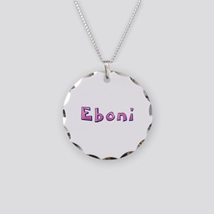 Eboni Pink Giraffe Necklace Circle Charm