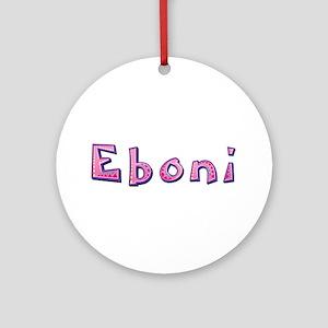 Eboni Pink Giraffe Round Ornament