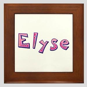 Elyse Pink Giraffe Framed Tile